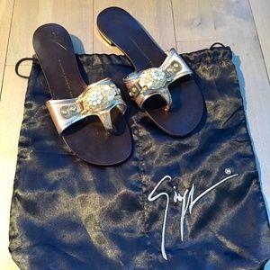 GIUSEPPE ZANOTTI Embellished Slide Sandal